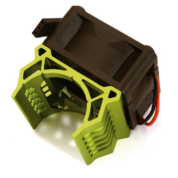 Integy Brushless Motor Heatsink+40x40mm Cooling Fan 17k rpm for 1/16 E-Revo & Slash VXL C28596GREEN