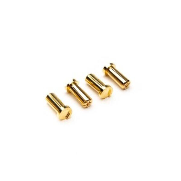 Dynamite 5mm Low Profile Bullet Connectors (4)