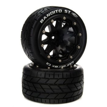 DuraTrax Bandito ST Belted 2.8 Mounted F/R 14mm Black (2)