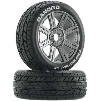 DTX Bandito Buggy Tire C2 Mounted Spoke Black/Chrm