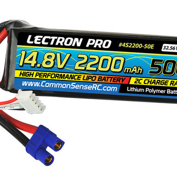 Commonsence RC lectron Pro 14.8v 2200mah 50c lipo battery with EC3 connector