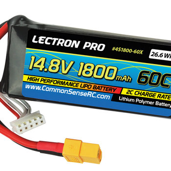 Commonsence RC Lectron Pro 14.8V 1800mAh 60C Lipo Battery for FPV Racers