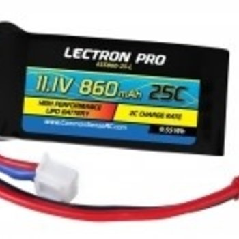 Commonsence RC Lectron Pro 11.1V 860mAh 25C Lipo Battery with JST Connector for 250 Size Helis, Small Planes & Foamies