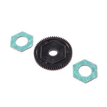 LOS Spur Gear w/ Slipper Pads, 60T, 0.5M: Mini-T 2.0