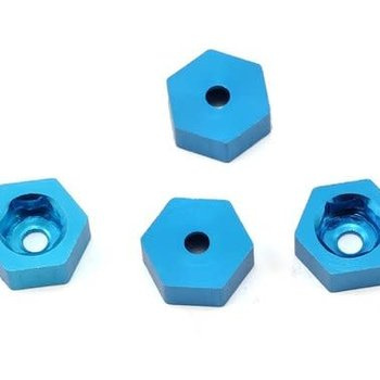 Dromida Aluminum Wheel Adapter To 12mm Hex Blue (4)
