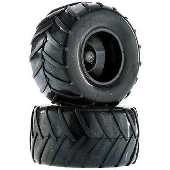 Dromida Wheel/Tire Assembled Black Monster Truck FPV