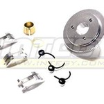 Integy 3-Piece Type 7075 Clutch Conversion for T-Maxx3.3 (4907, 4908, 4909, 4910) T3670SILVER