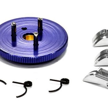 Integy Evolution-5 Large Flywheel Clutch Conversion Set 7075 for T-Maxx, Revo & Slayer T3284BLUE