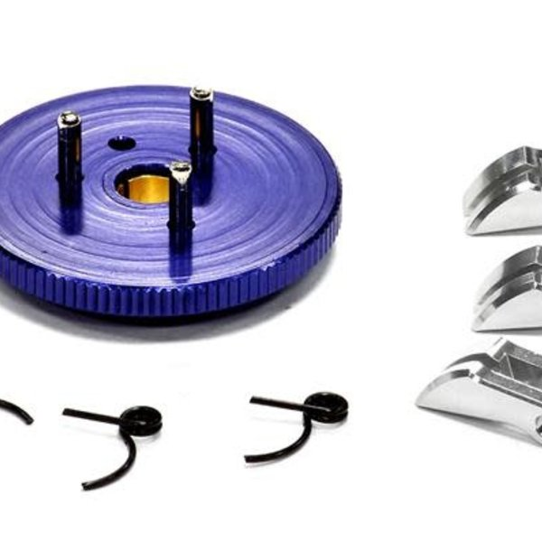Integy Evolution-5 Large Flywheel Clutch Conversion Set 7075 for T-Maxx, Revo & Slayer T3284BLUE