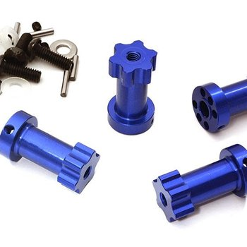 Integy 12mm Hex Extended Wheel (4) Hub 25mm Thick for Most 1/10 Traxxas C28018BLUE