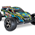 Traxxas 37076-4 - Rustler® VXL: 1/10 Scale Stadium Truck. Ready-to-Race® with TQi Traxxas Link™ Enabled 2.4GHz Radio System, Velineon® VXL-3s brushless ESC (fwd/rev), and Traxxas Stability Management (TSM)®.