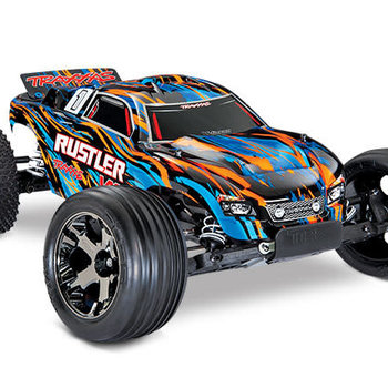 Traxxas 37076-4 - Rustler® VXL: 1/10 Scale Stadium Truck. Ready-to-Race® with TQi Traxxas Link™ Enabled 2.4GHz Radio System, Velineon® VXL-3s brushless ESC (fwd/rev), (GRD SHIP INC LOWER 48)