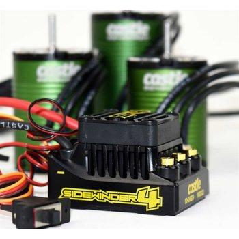 Castle Creations SW4, 12.6V 2A BEC WP SL ESC, 1406-5700 Sens Motor