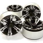 Integy 1.9 Size Billet Machined Alloy 6D Spoke Wheel(4)High Mass Type for Scale Crawler C26616BLACK