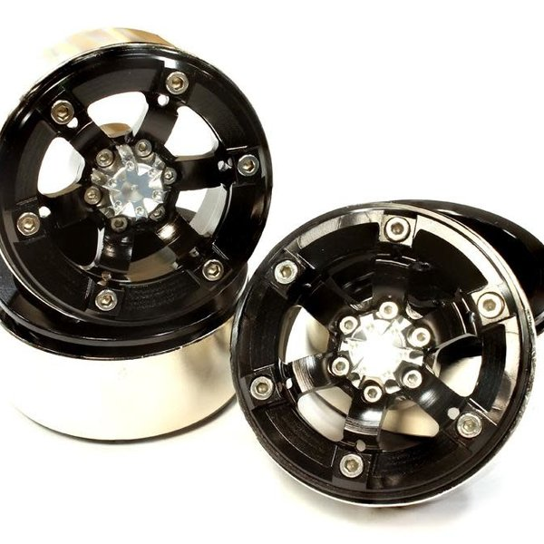 Integy 1.9 Size Billet Machined Alloy 6 Spoke Wheel(4) High Mass Type for Scale Crawler C25618BLACK