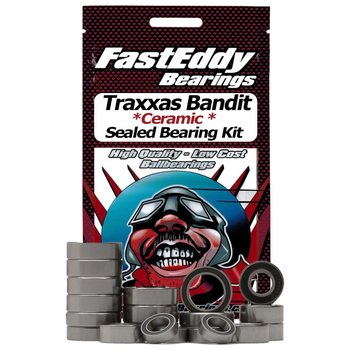 FAST EDDIE Traxxas Bandit Ceramic Rubber Sealed Bearing Kit