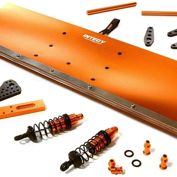 Integy Integy RC Model Hop-ups C27055ORANGE Alloy Machined Snowplow Kit for Traxxas X-Maxx 4X4