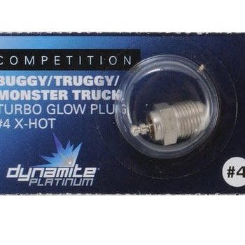 Dynamite Platinum Turbo Glow Plug, #4 X-Hot
