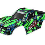 Traxxas 9011G - Body, Hoss™ 4X4 VXL, green/ window, grille, lights decal sheet (assembled with front & rear body mounts and rear body support for clipless mounting)
