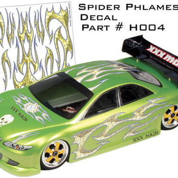 XXX Main Racing H004 EXT DECAL SPIDER PHLAMES