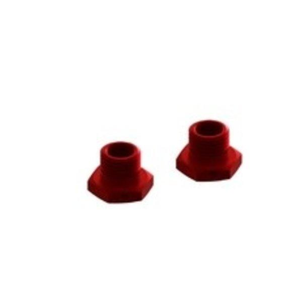 arrma ALUMINUM WHEEL HEX 17mm (14.6mm THICK, RED) (2pcs)