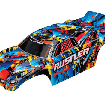Traxxas Body, Rustler , Rock n' Roll (painted, decals applied)