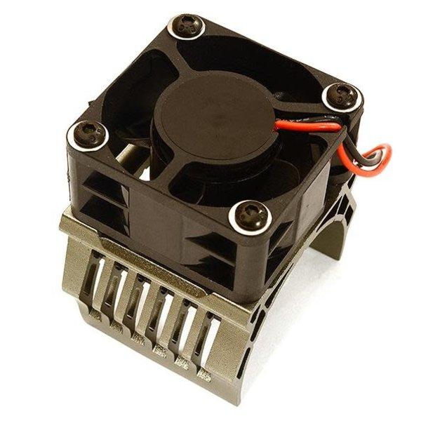 Integy 42mm Motor Heatsink+40x40mm Cooling Fan 16k rpm for 1/10 Summit & E-Revo C28603BLACK New Item