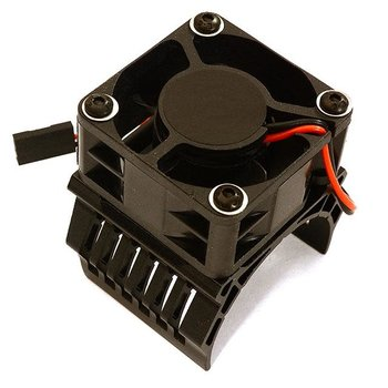 Integy 42mm Motor Heatsink+40x40mm Cooling Fan 16k rpm for 1/10 Summit & E-Revo C28603BLACK