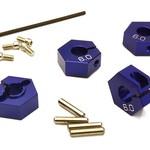 Integy 12mm Hex Wheel (4) Hub 6mm Thick for 1/10 Traxxas, Axial, Tamiya, TC & Drift