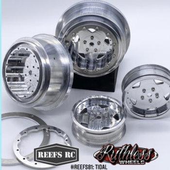 REEFS RC Tidal Beadlock Drag Wheels w/ Rings and Hardware (4pcs)