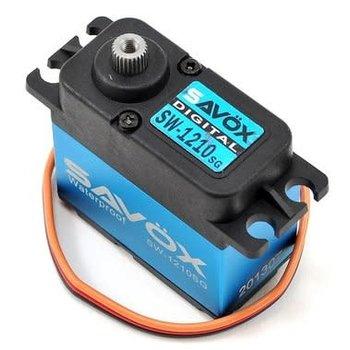 SAVOX Waterproof High Voltage Digital Servo 0.13sec / 444.4oz @ 7.4V - Black Edition