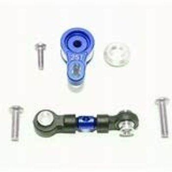 GPM GPM Racing Traxxas 4-Tec 2.0 Blue Aluminum Servo Saver W/ Steering Link GT16025TM-B