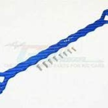 GPM GPM RACING TRAXXAS XO-1 BLUE ALUMINUM 5MM THICK TOP PLATE SUB-CHASSIS XO014-B
