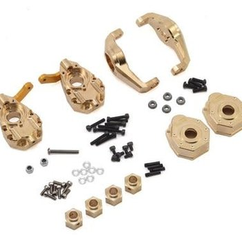 YEAH RACING YEAH RACING TRAXXAS TRX-4 BRASS PARTS SET - HUBS KNUCKLES HEXES PORTAL TRX4-S01