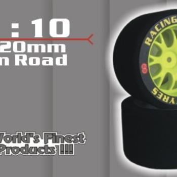 GQ PRODUCT GQ Rear 40mm Shore 32 Yellow Wheel