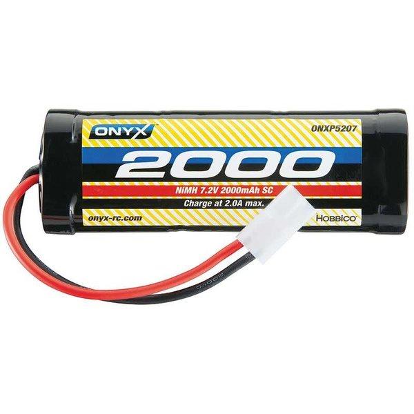 ONYX 7.2V 2000mAh 6-Cell Sub-C Stick NiMH Battery: Tamiya Connector