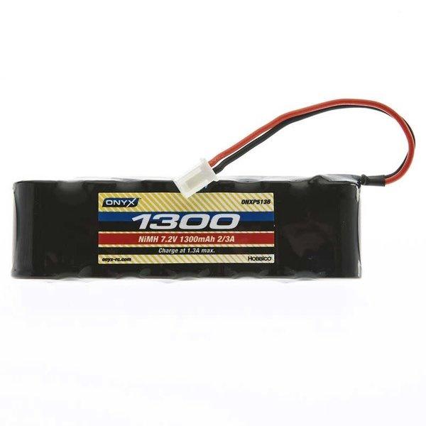 ONYX 7.2V 1300mAh 6-Cell 2/3A Flat NiMH Battery: XH-1S (Losi Mini Plug)