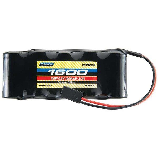 ONYX 6.0V 1600mAh NiMH 2/3A Flat Receiver Battery: Universal Receiver
