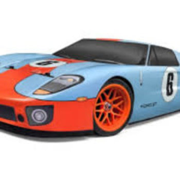 HPI RS4 Sport 3 Flux Ford GT LM Heritage Edition w/Shadow Hobbies handling Package  W/ 40mm rear Foams  & 30mm Frt. Foams Yellow  Spoke, 3 Cell Venom 35C 5000 and  Dynamite 4 amp Charger