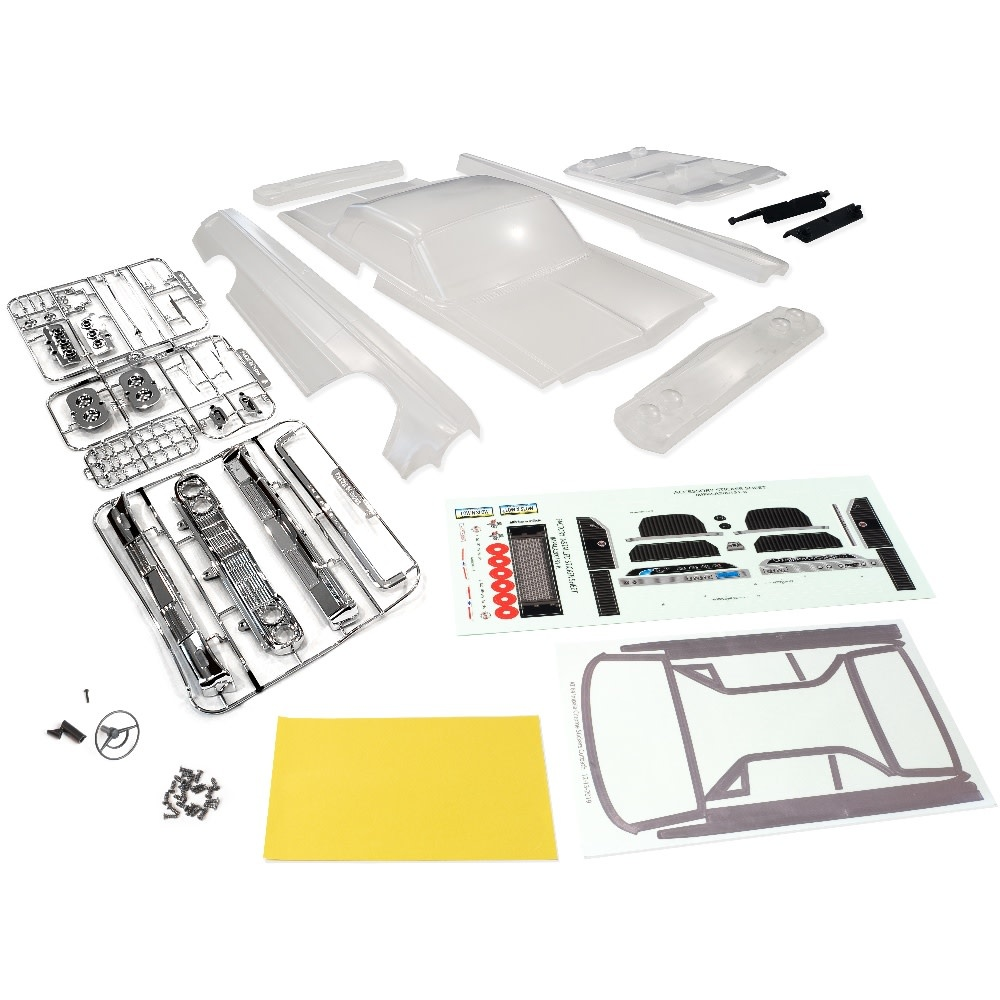 Redcat Racing 13214 1964 Impala Clear Interior Uncut with Stickers