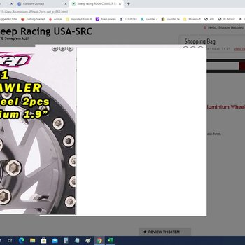 SWEEP SWP9191 Crawler Beadlock 1.9 Grey Aluminium Wheel 2pcs set