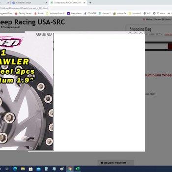 SWEEP SWP9194 Crawler Beadlock 1.9 Grey Aluminium Wheel 2pcs set