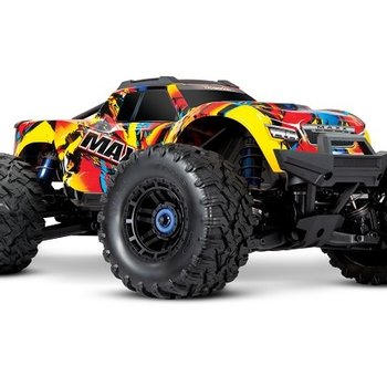 Traxxas Maxx®: 1/10 Scale 4WD Brushless Electric Monster Truck. Fully assembled, Ready-to-Race®, with TQi Traxxas Link™ Enabled 2.4GHz Radio System with Traxxas Stability Management (TSM)®, Velineon® VXL-4s Brushless Power System, and ProGraphix® painted body.