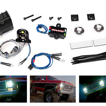Traxxas LED light set (contains headlights, tail lights, side marker lights, distribution block (fits #8130 body, requires #8028 power supply)