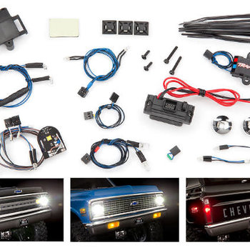 Traxxas LED light set, complete with power supply (contains headlights, tail lights, side marker lights, & distribution block) (fits #9111 or 9112 body)