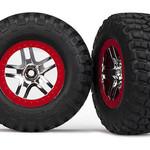 Traxxas 5877A Tire/Wheel Assembly Glued Slash 4x4 (2)