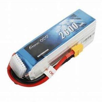 GENSACE Gens Ace 2600mAh 6S 22.2V 45C Lipo Battery Pack With XT60 Plug