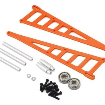 strc Orange CNC Machined Aluminum Adjustable Wheelie Bar Kit for Slash 2WD LCG, Rustler, Bandit