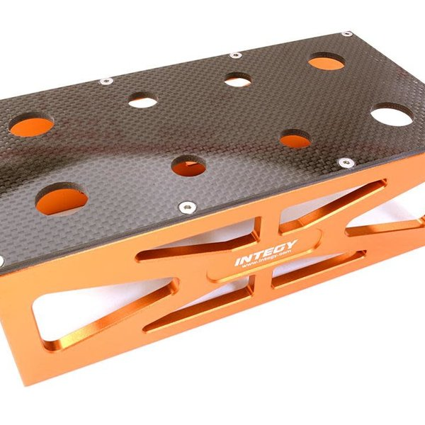 Integy Alloy HD Composite On-Road Car Stand Workstation for 1/10 & 1/8 Size 198x98x63mm C26919ORANGE