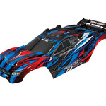 Traxxas 6717A - Body, Rustler® 4X4 VXL, blue/ window, grille, lights decal sheet (assembled with front & rear body mounts and rear body support for clipless mounting)